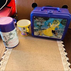Disney Beauty & The Beast Bundle Lunch Box Thermos